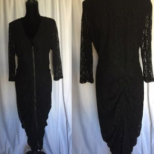 City chic⚫️ black Lace dress long sleeves Sz: 16